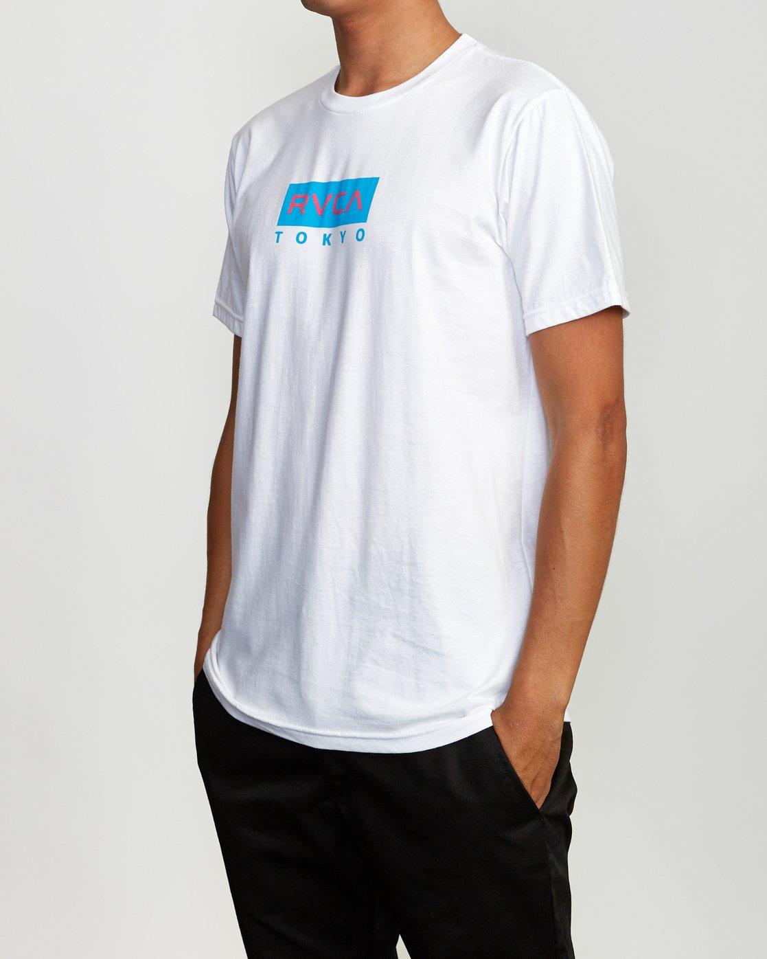 3 RVCA Tokyo T-Shirt White M401VRRT RVCA
