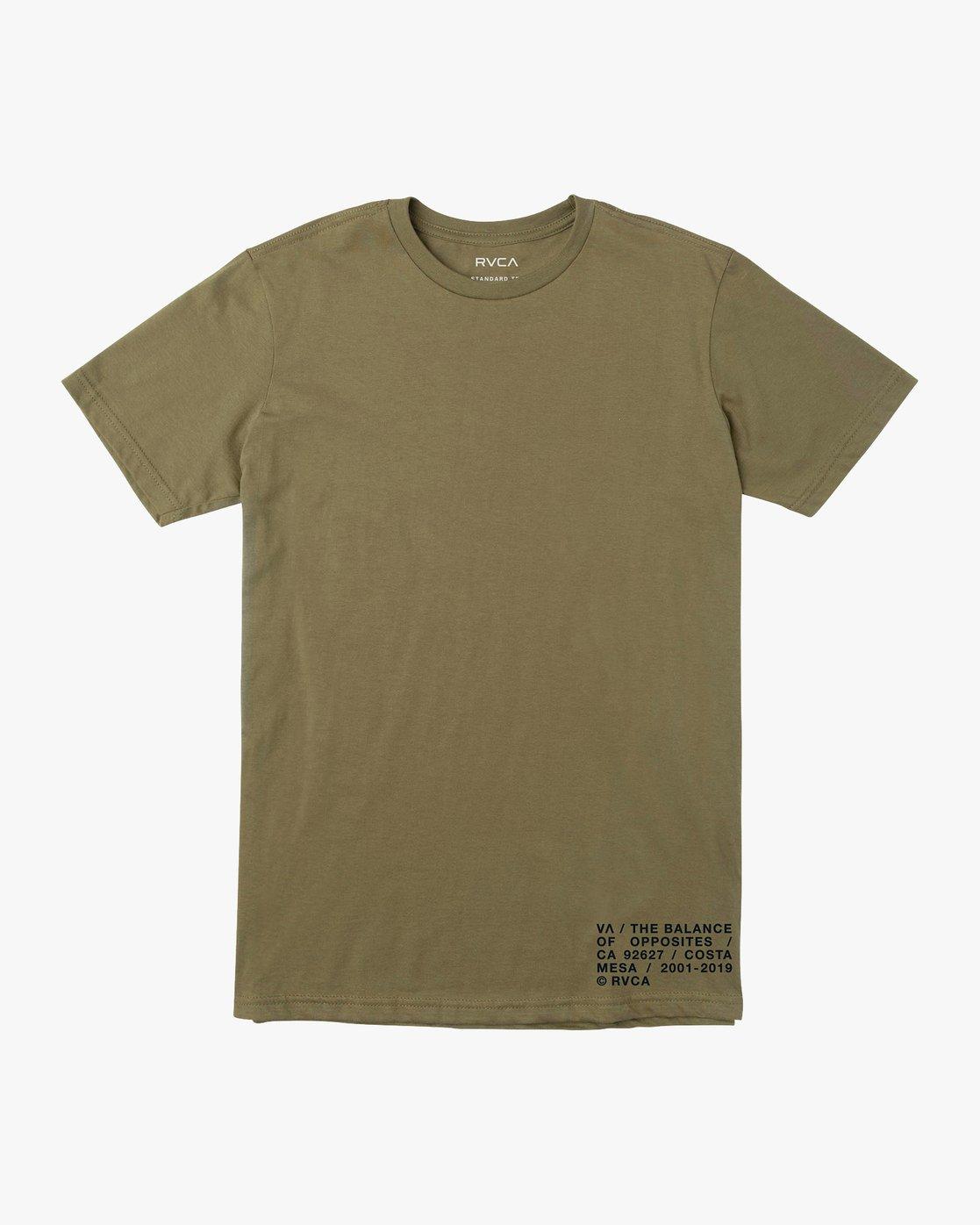 1 Spec T-Shirt Green M401VRSP RVCA