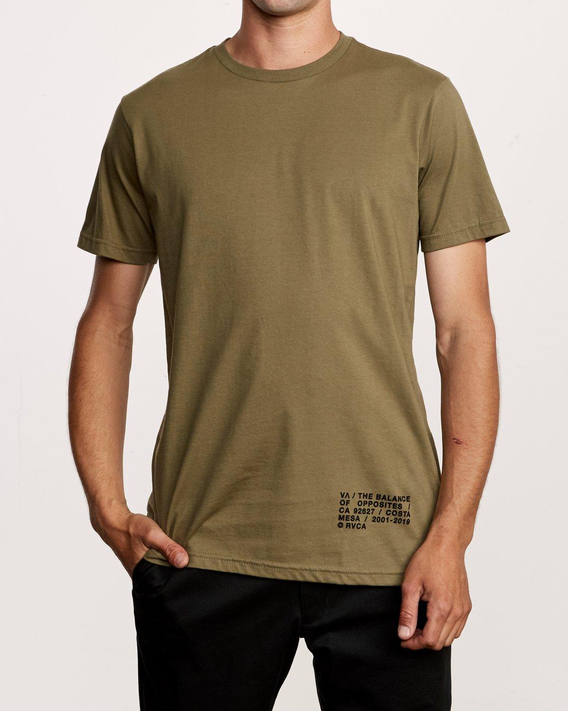 2 Spec T-Shirt Green M401VRSP RVCA