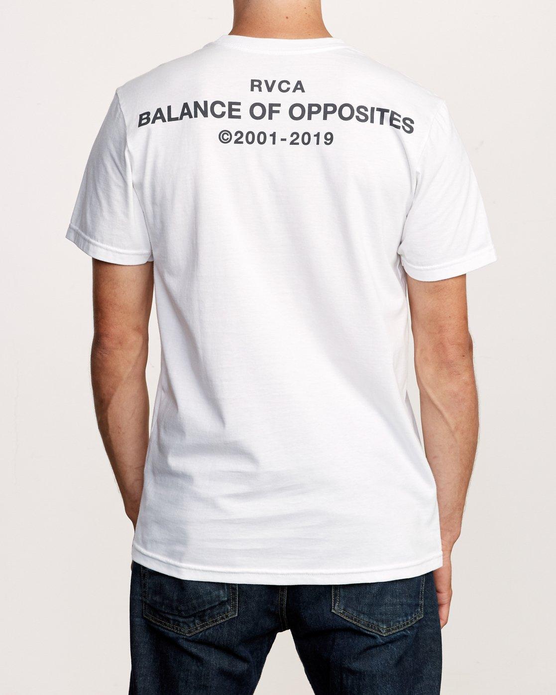 4 Spec T-Shirt White M401VRSP RVCA