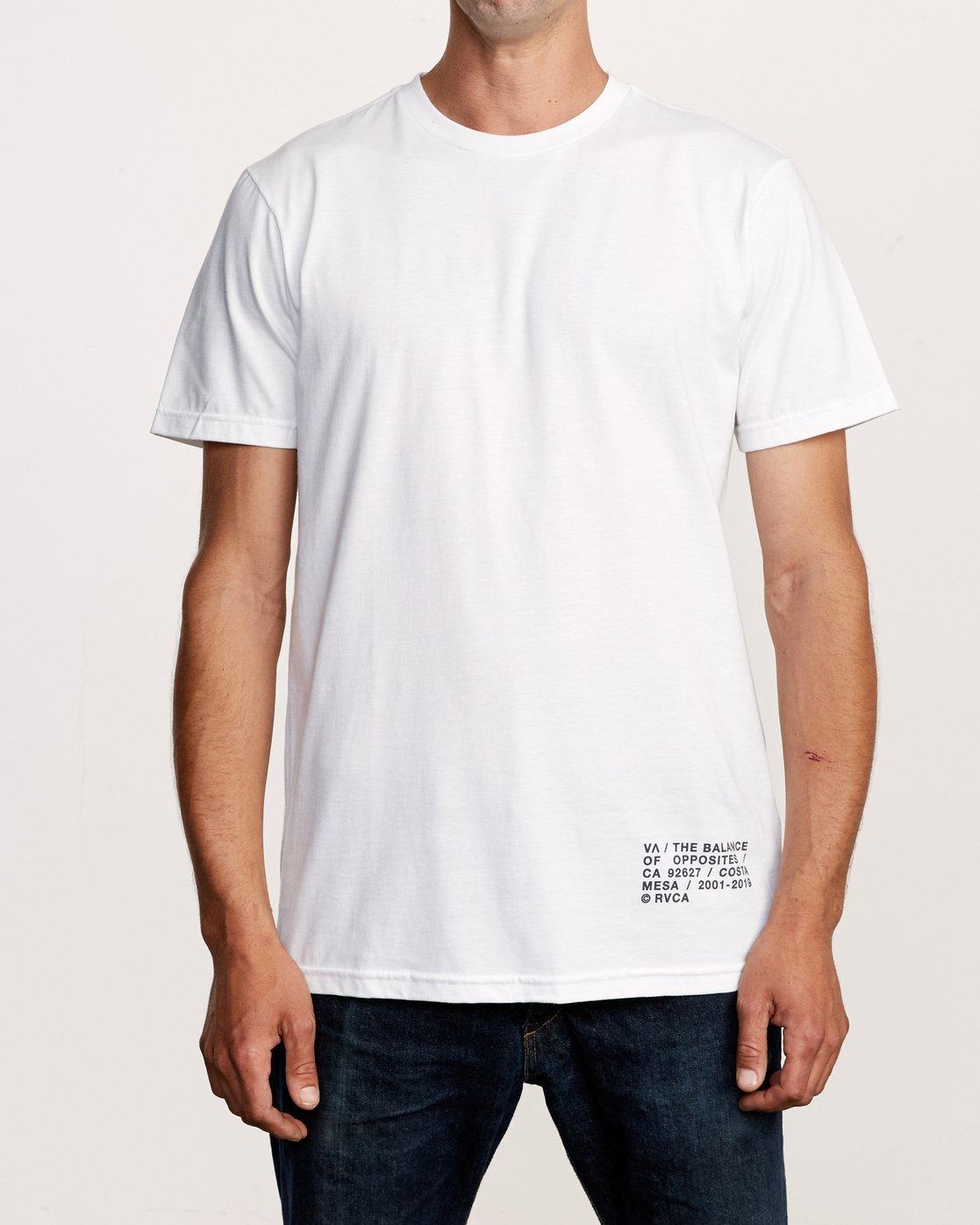 2 Spec T-Shirt White M401VRSP RVCA