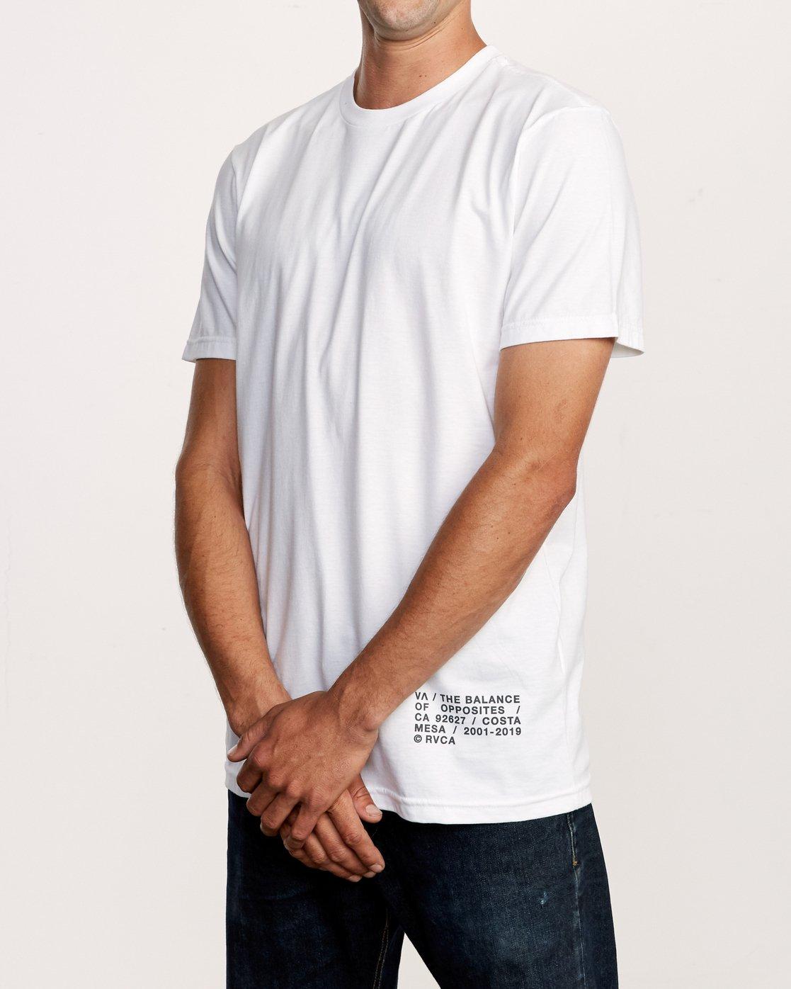 3 Spec T-Shirt White M401VRSP RVCA