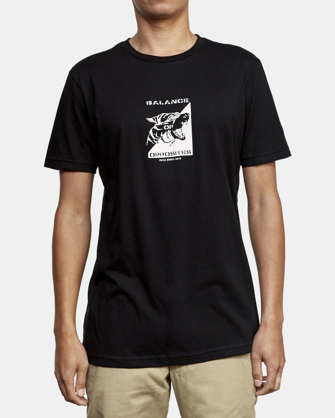 1 Beware T-Shirt Black M401WRBE RVCA
