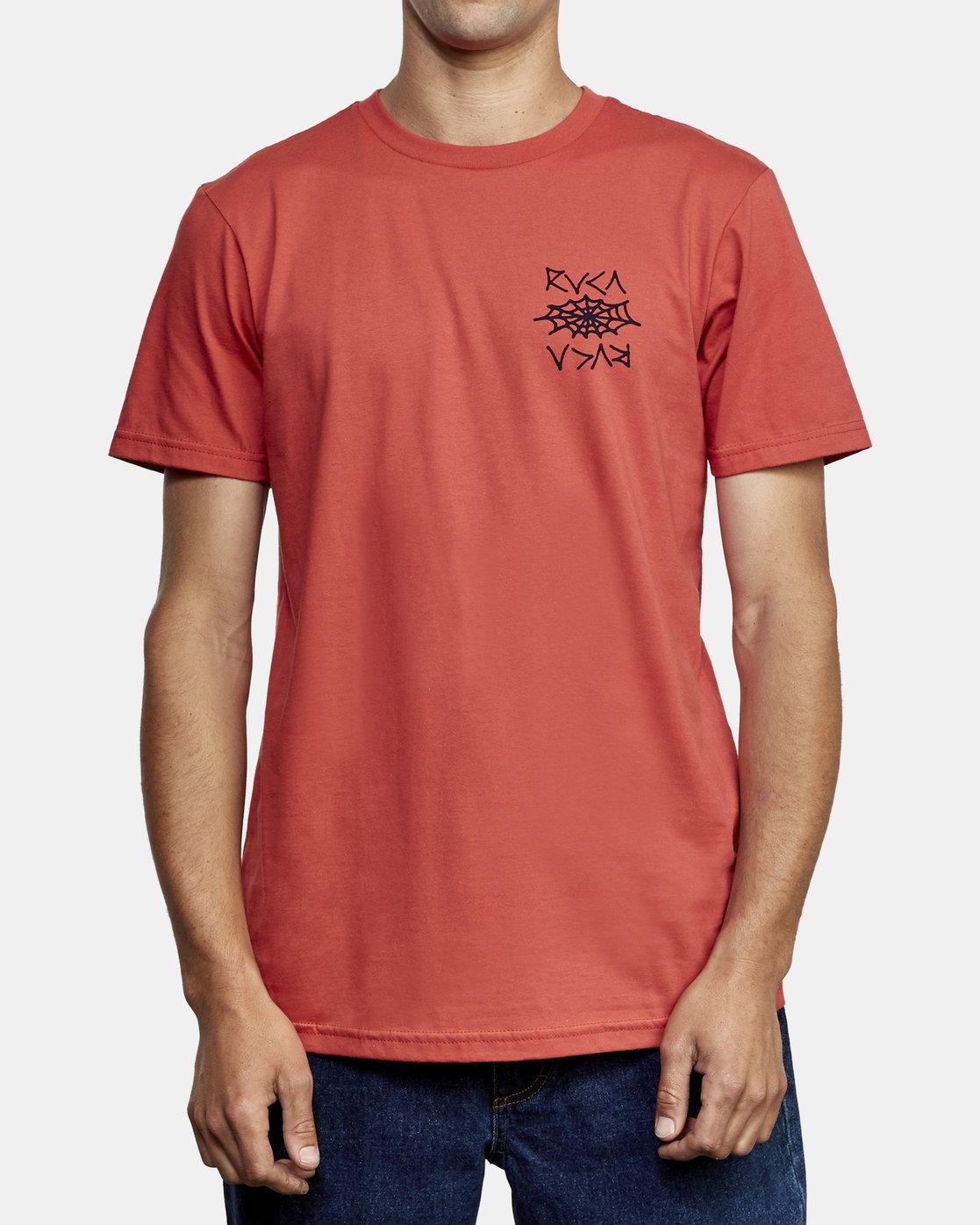 2 Cobbwebs T-Shirt Grey M401WRCO RVCA