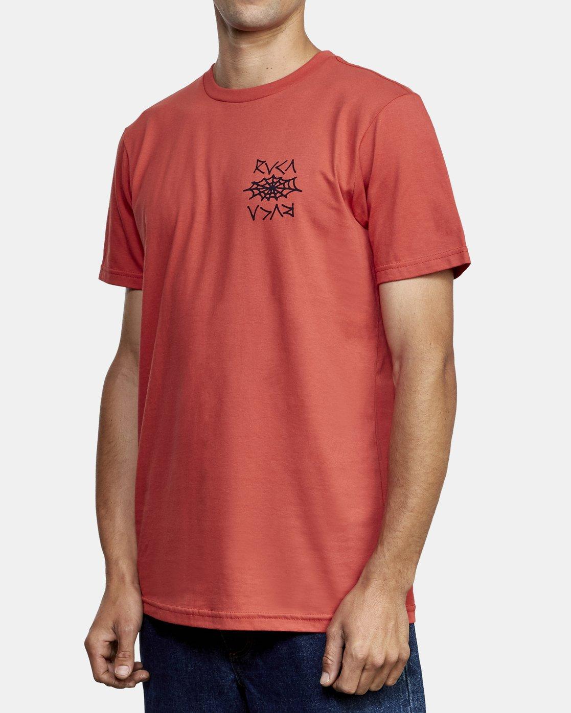 3 Cobbwebs T-Shirt Grey M401WRCO RVCA