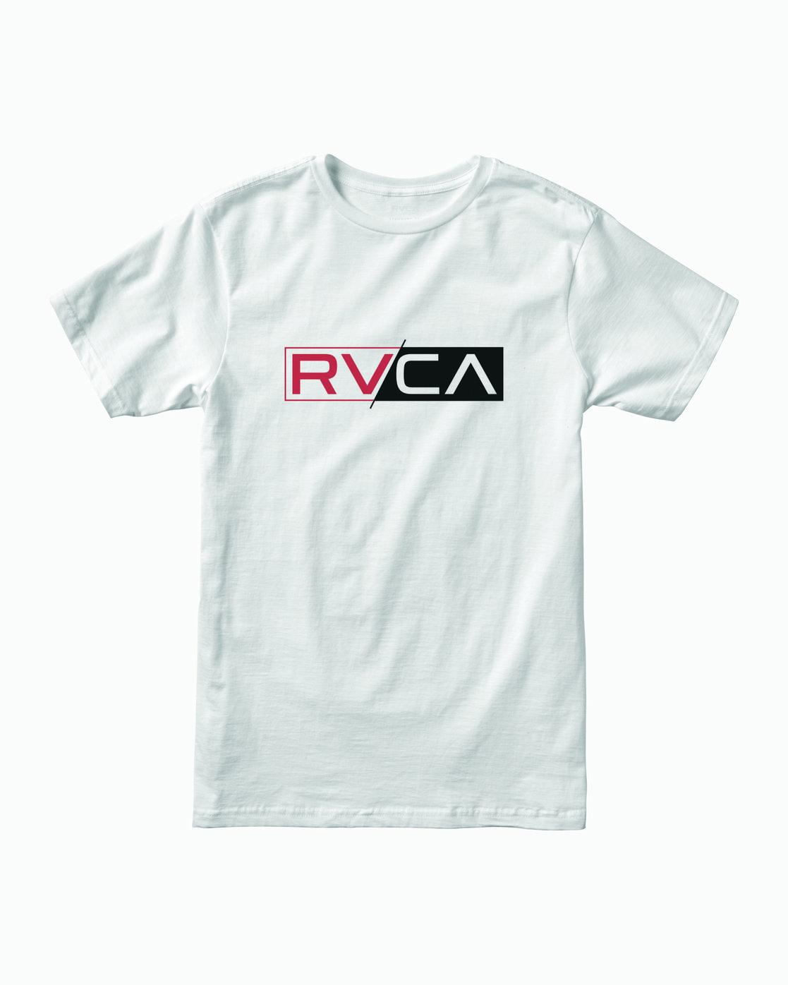 0 Lateral RVCA T-Shirt White M401WRLA RVCA