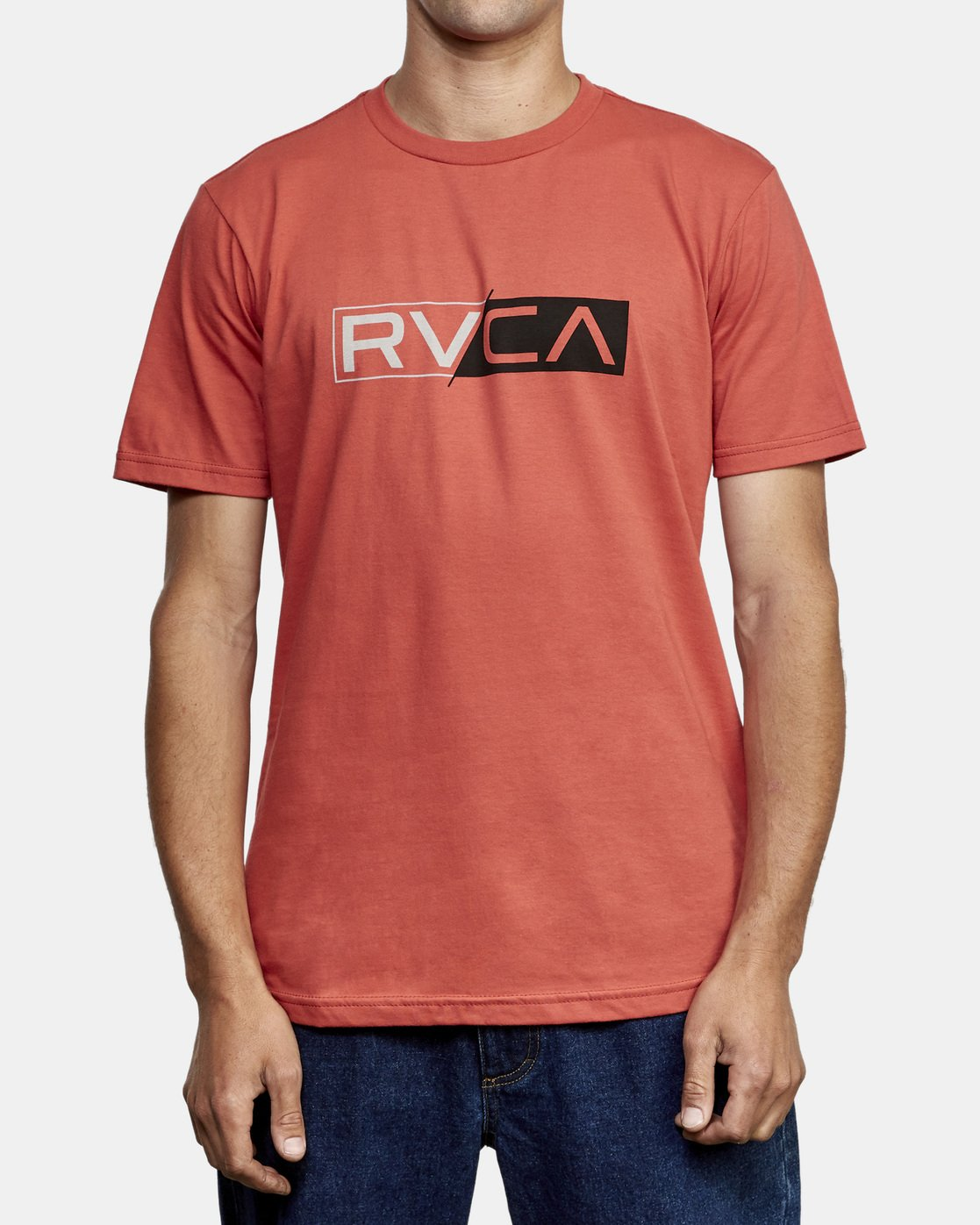 1 Lateral RVCA T-Shirt Grey M401WRLA RVCA