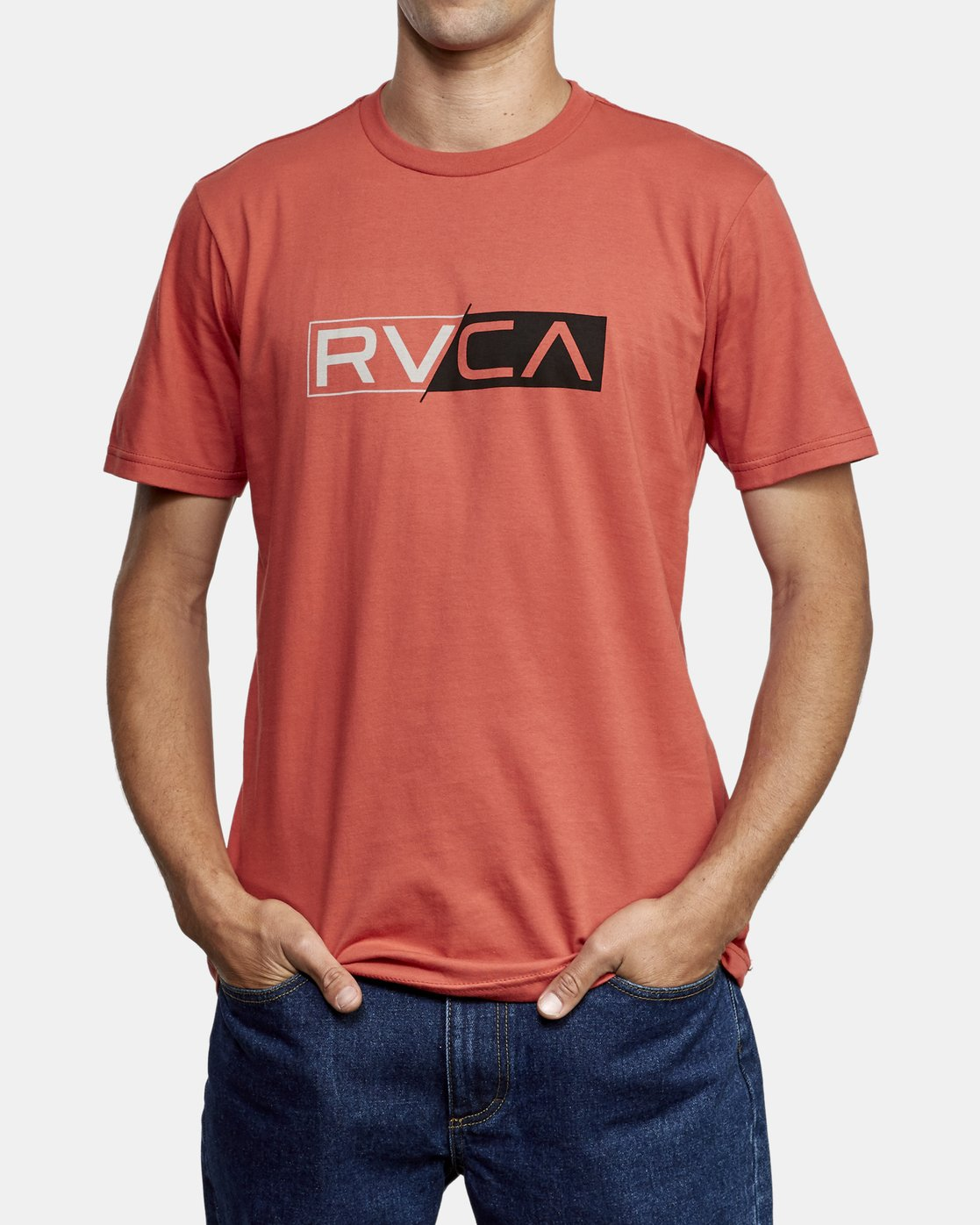 2 Lateral RVCA T-Shirt Grey M401WRLA RVCA