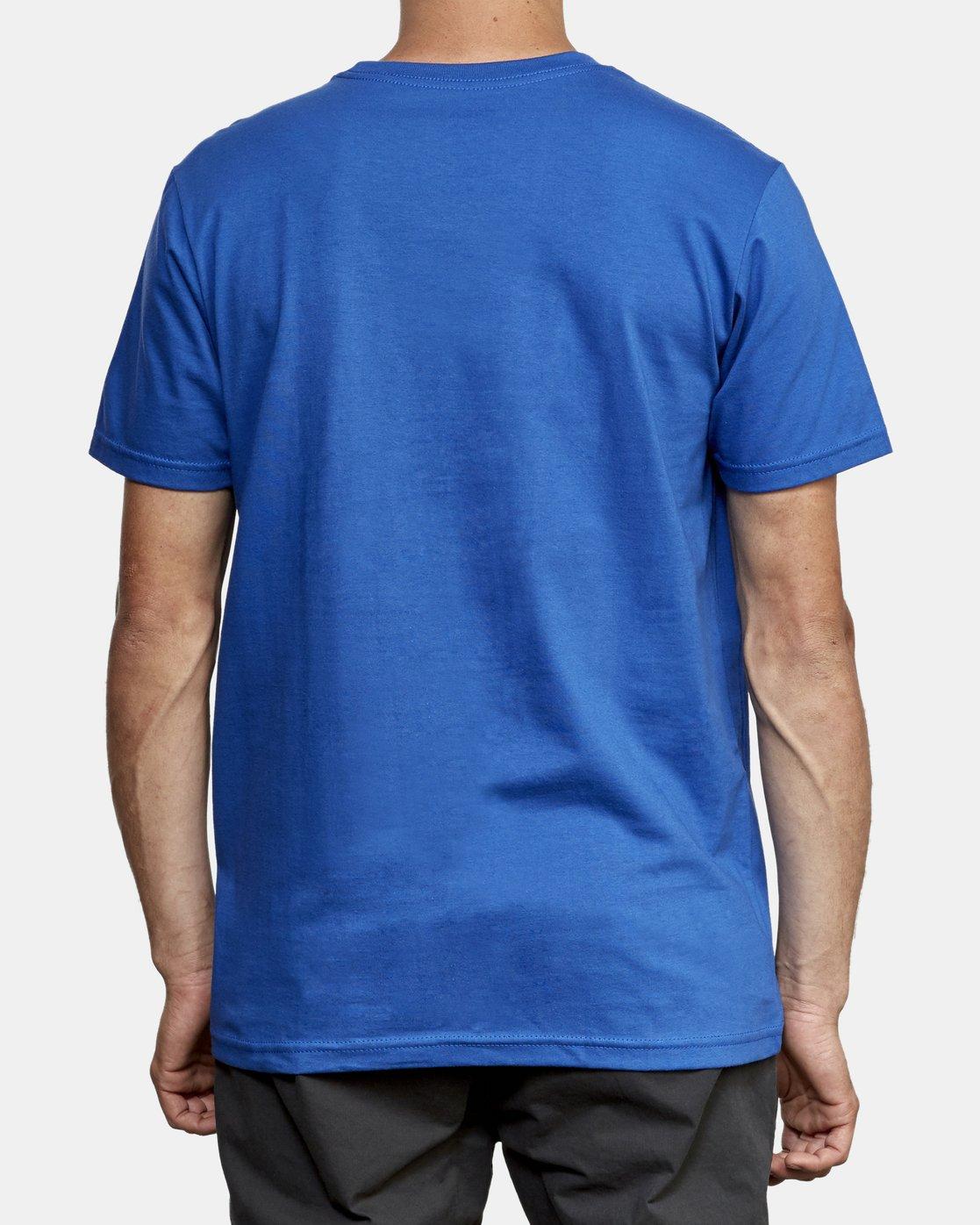 3 Lateral RVCA T-Shirt Blue M401WRLA RVCA