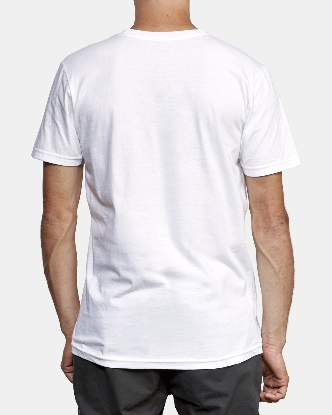 3 Lateral RVCA T-Shirt White M401WRLA RVCA