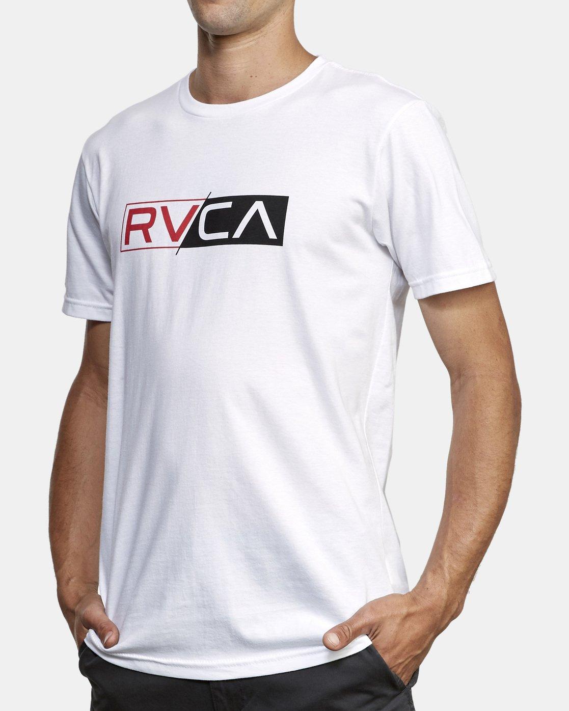 2 Lateral RVCA T-Shirt White M401WRLA RVCA