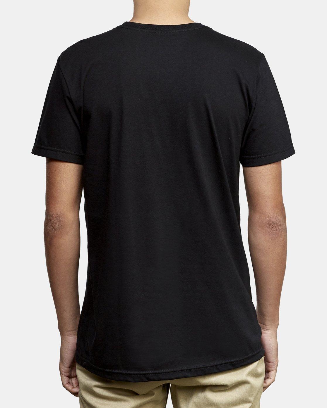 3 Motors Fill T-Shirt Black M401WRMO RVCA