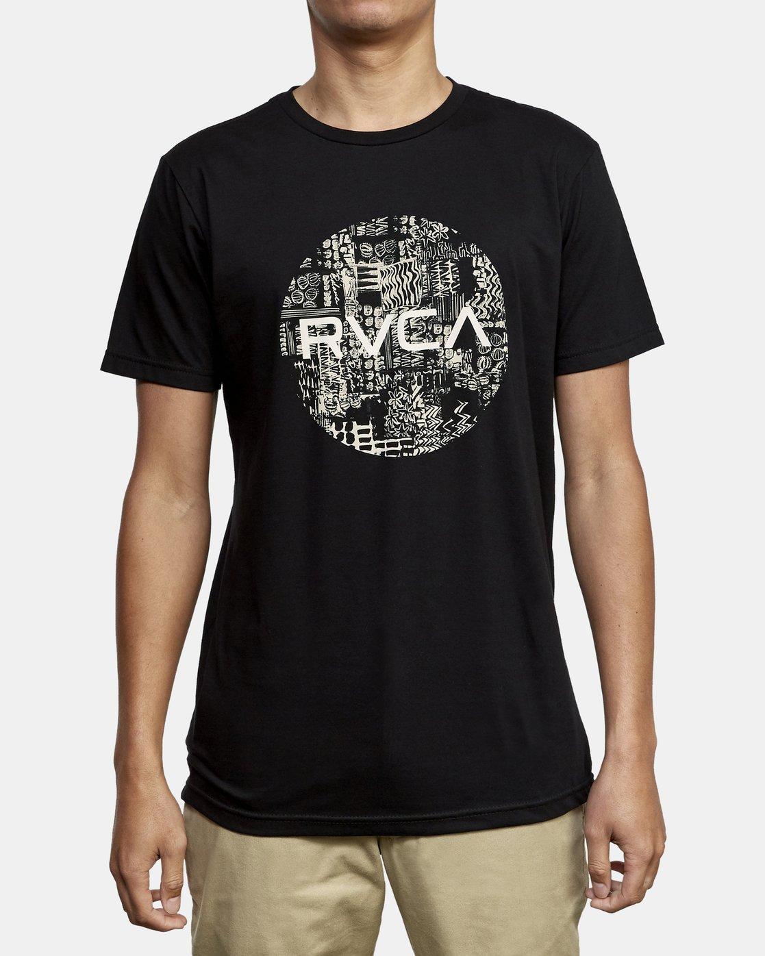 1 Motors Fill T-Shirt Black M401WRMO RVCA