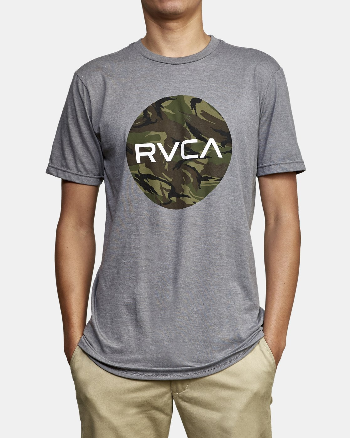2 Motors Fill T-Shirt Green M401WRMO RVCA