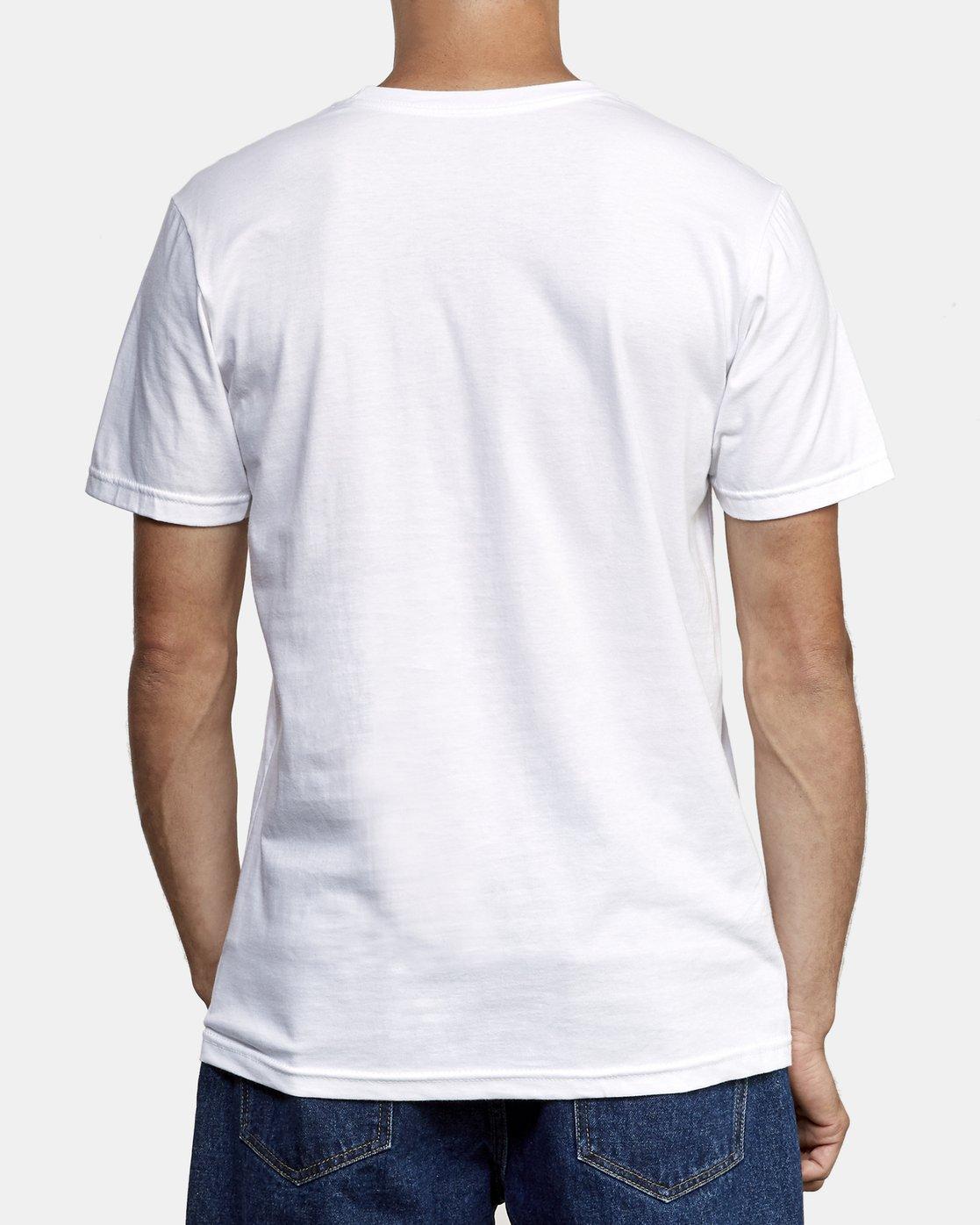 3 Motors Fill T-Shirt White M401WRMO RVCA