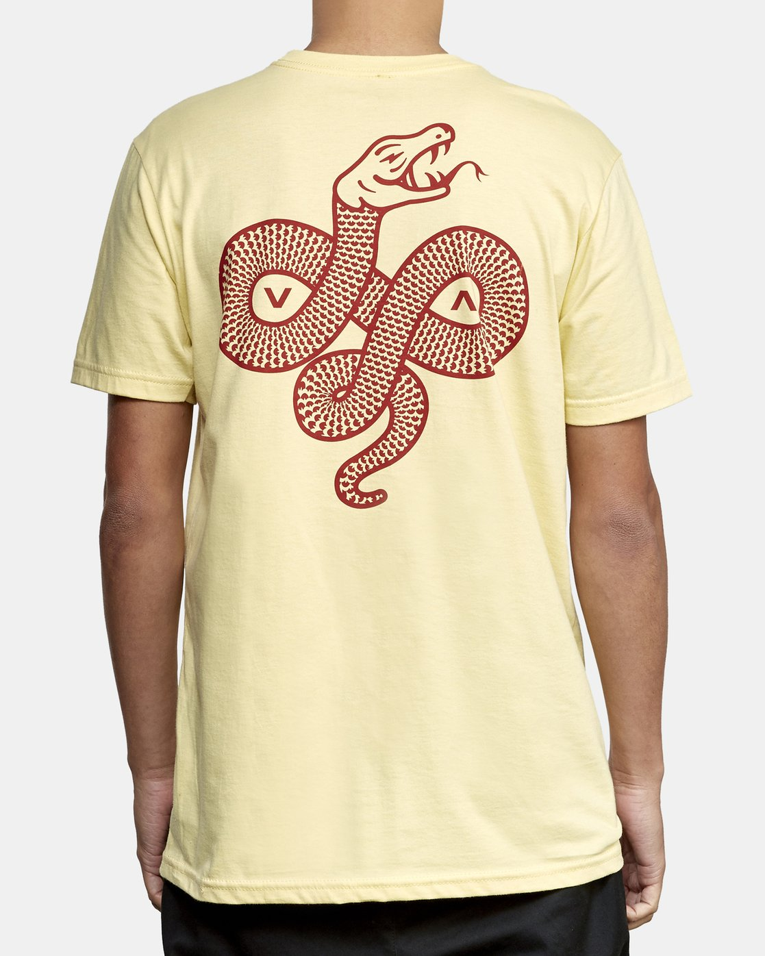 4 RVCA Serpent T-Shirt Yellow M401WRRS RVCA