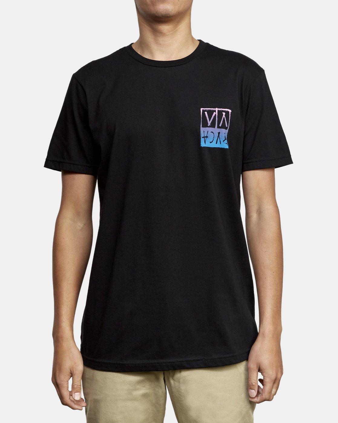 2 Unplugged T-Shirt Black M401WRUN RVCA