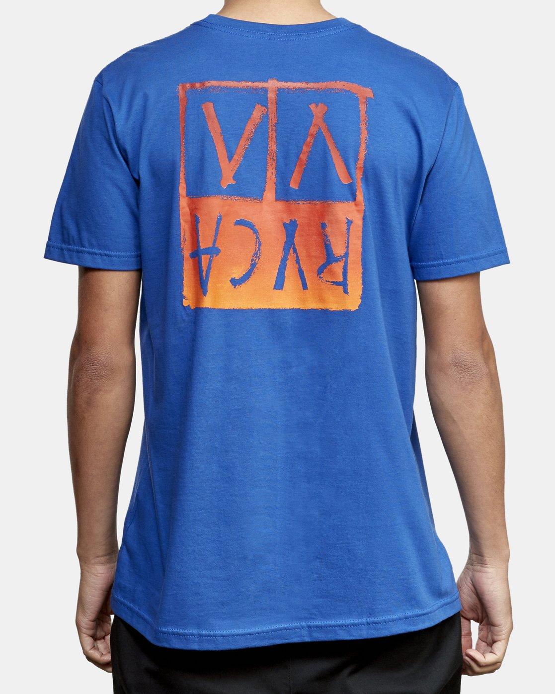 4 Unplugged T-Shirt Blue M401WRUN RVCA