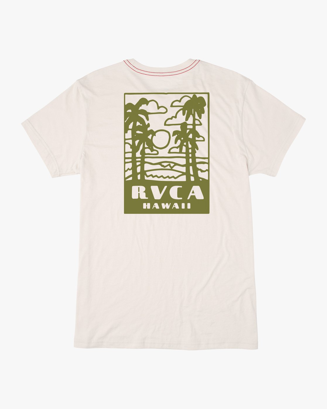 0 Hawaii Daze Horton T-Shirt White M402NRHA RVCA