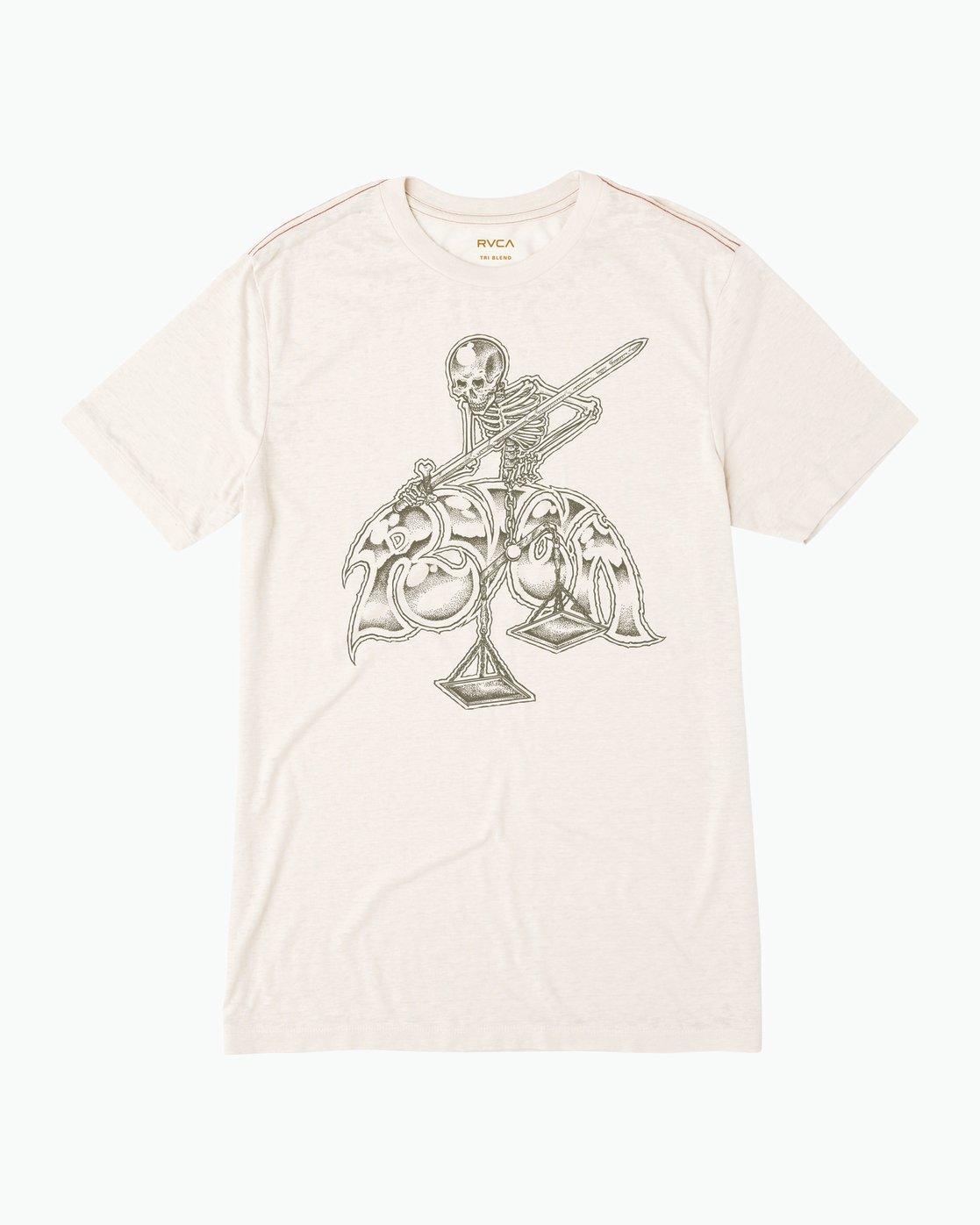 0 Mortal Justice Tri-Blend T-Shirt  M405PRMO RVCA