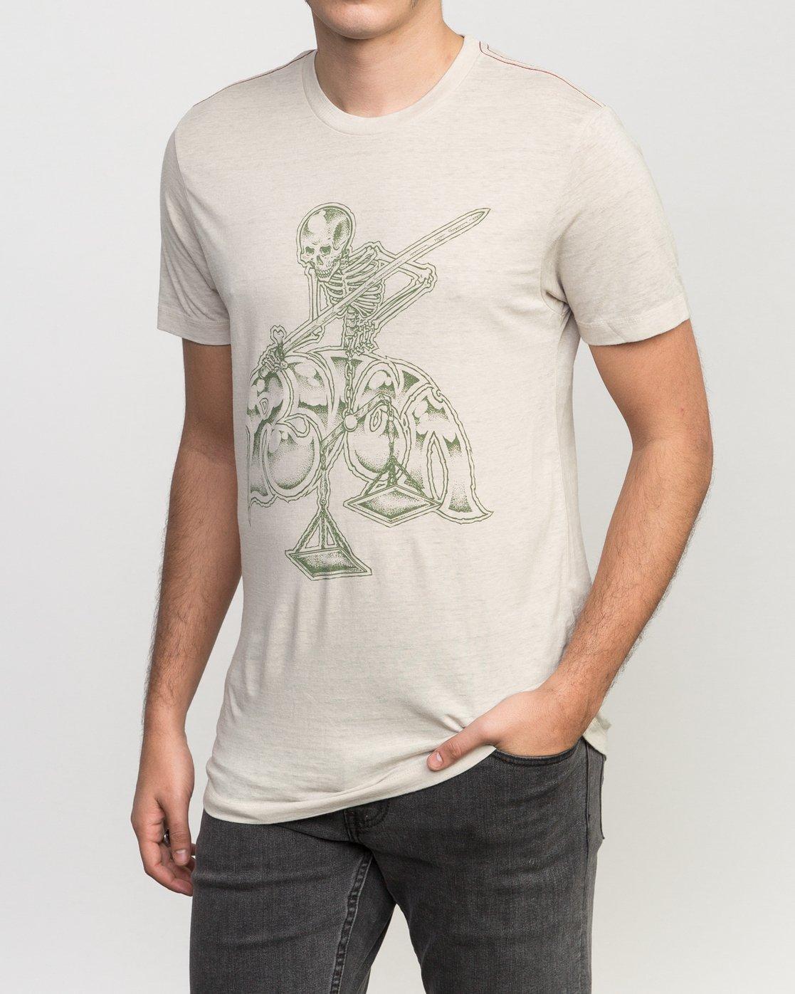 2 Mortal Justice Tri-Blend T-Shirt  M405PRMO RVCA