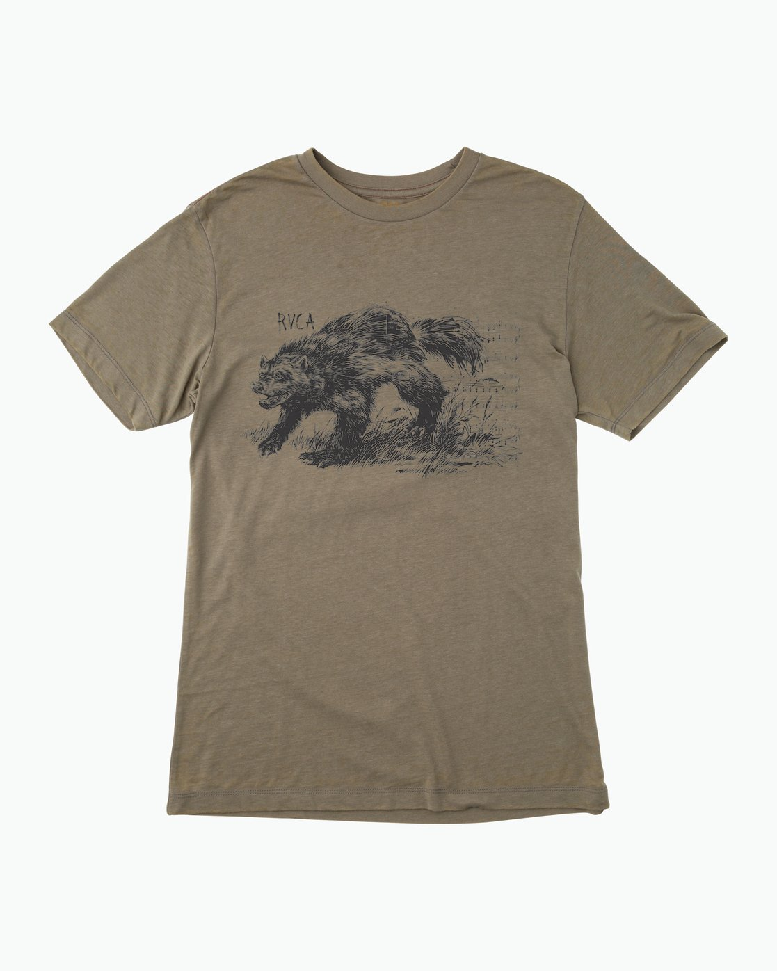 0 Ben Horton Badger T-Shirt Brown M405QRBA RVCA