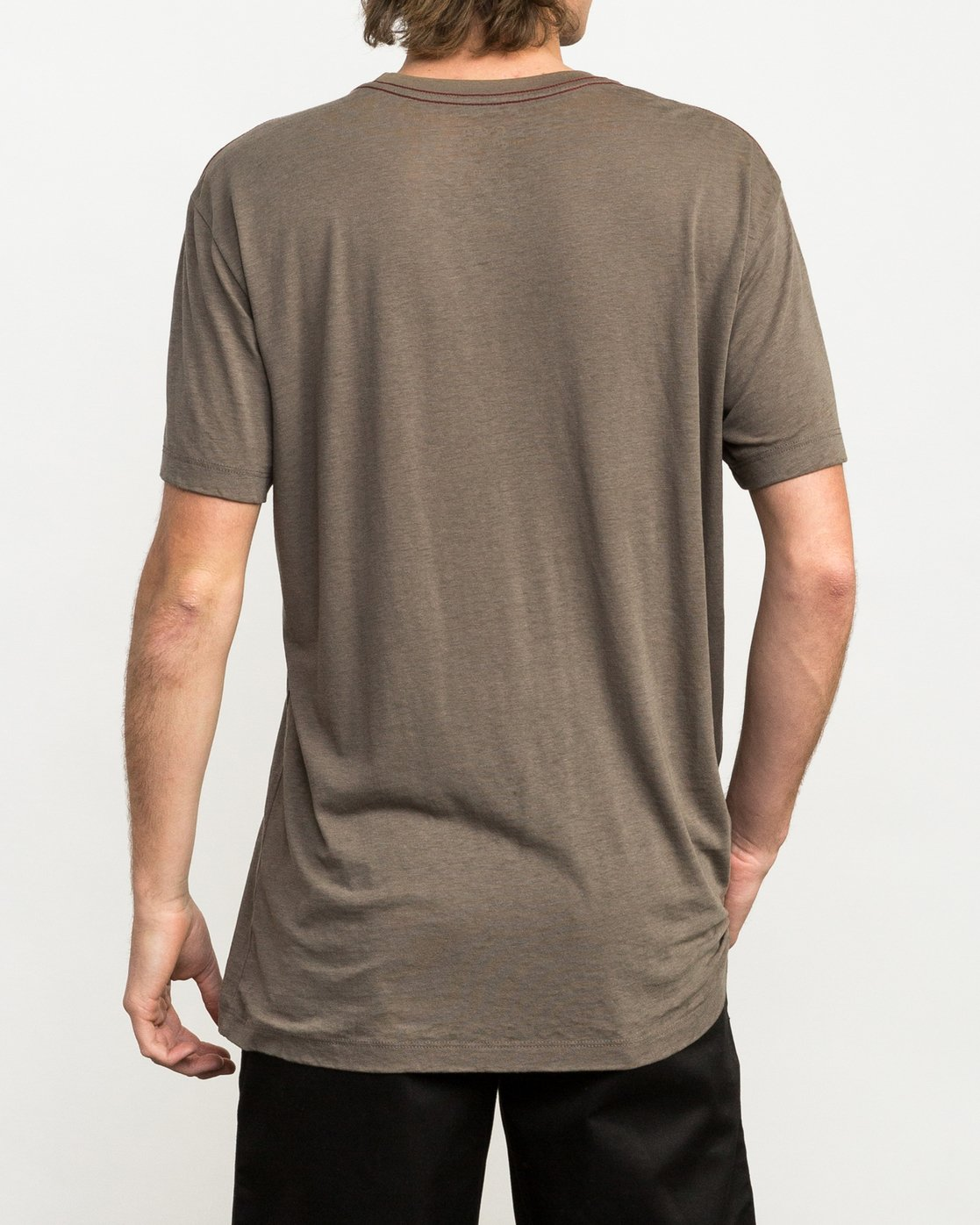 3 Ben Horton Badger T-Shirt Brown M405QRBA RVCA