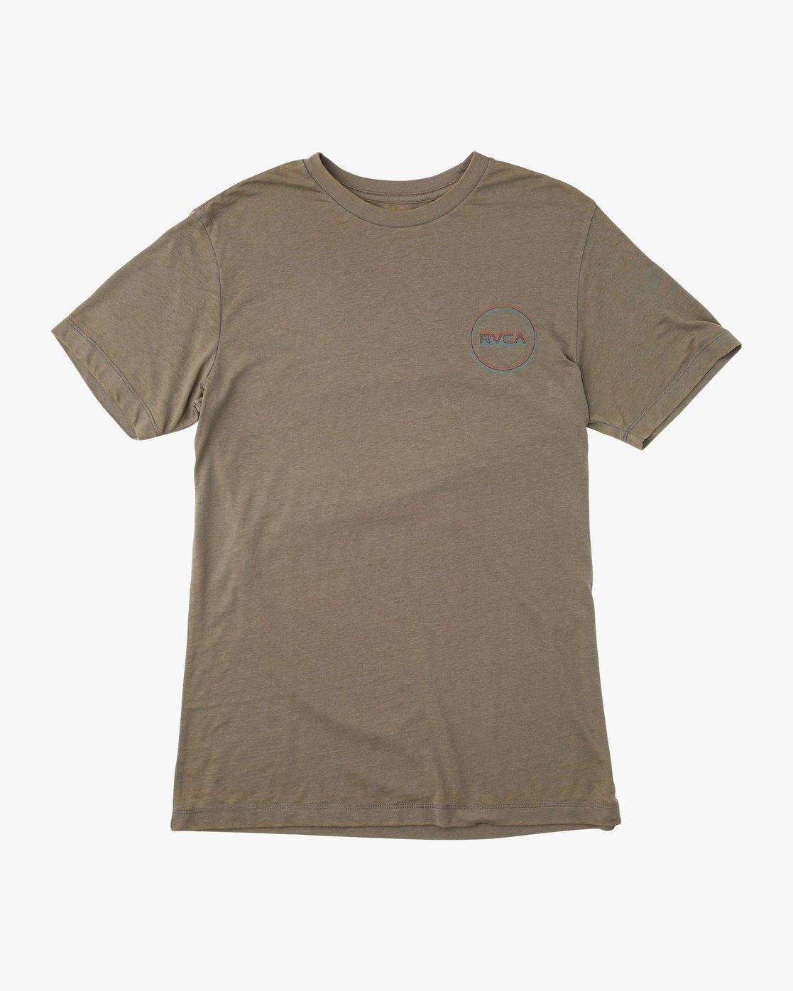 0 Tri-Motors Burnout T-Shirt Brown M405QRTR RVCA