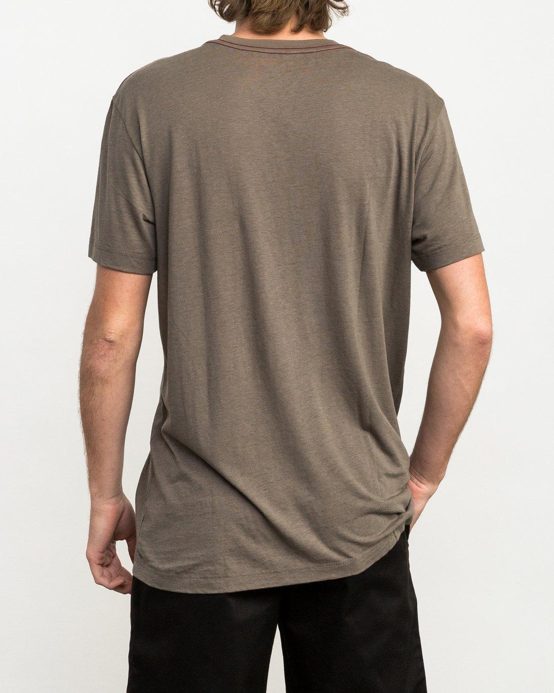3 Tri-Motors Burnout T-Shirt Brown M405QRTR RVCA