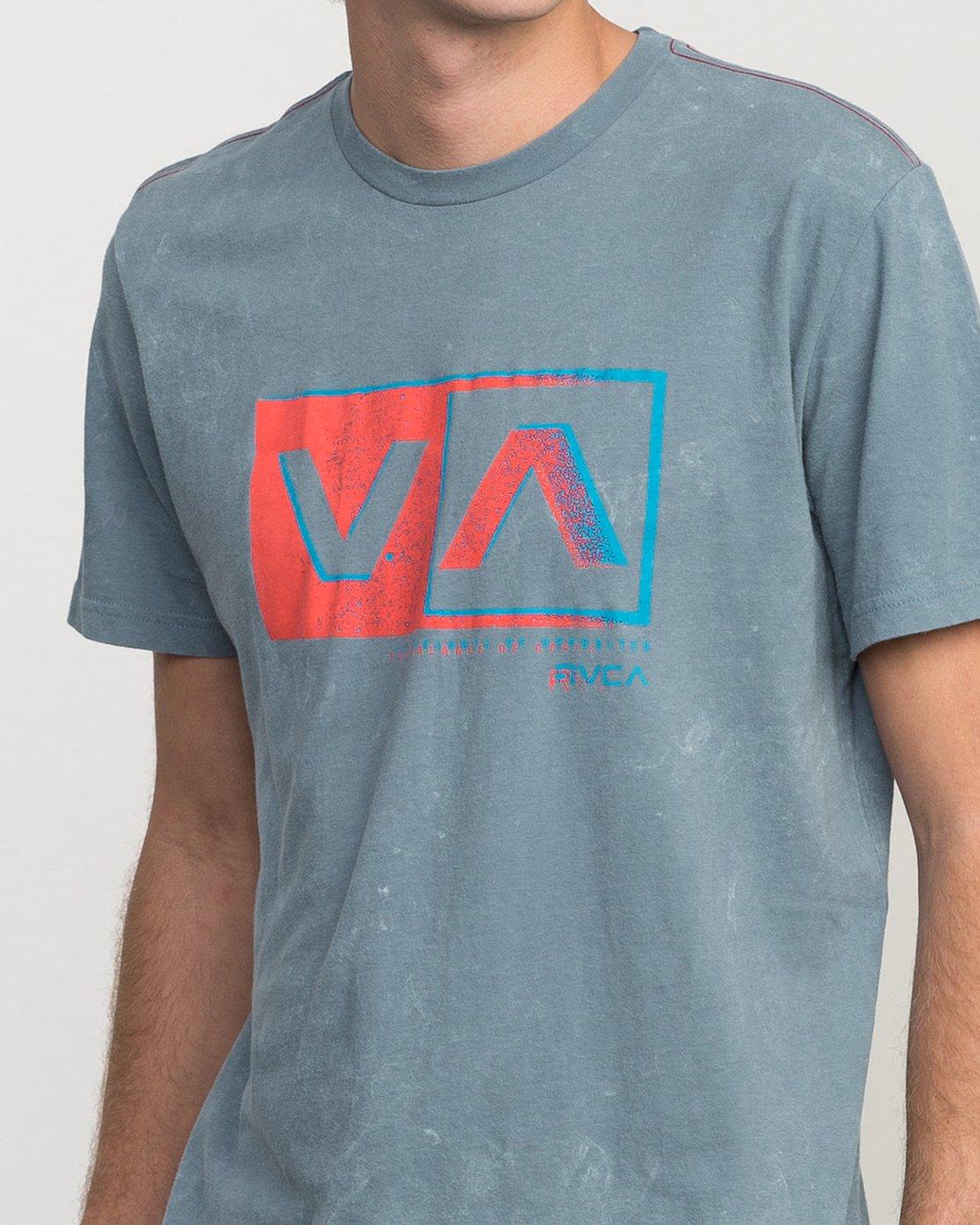 3 Static Box Acid Wash T-Shirt  M409PRST RVCA