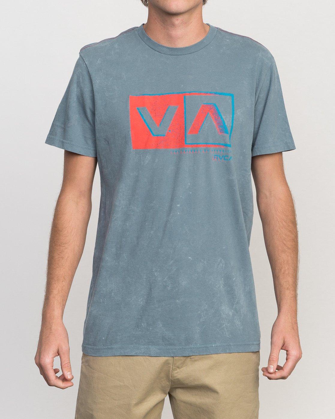 1 Static Box Acid Wash T-Shirt  M409PRST RVCA