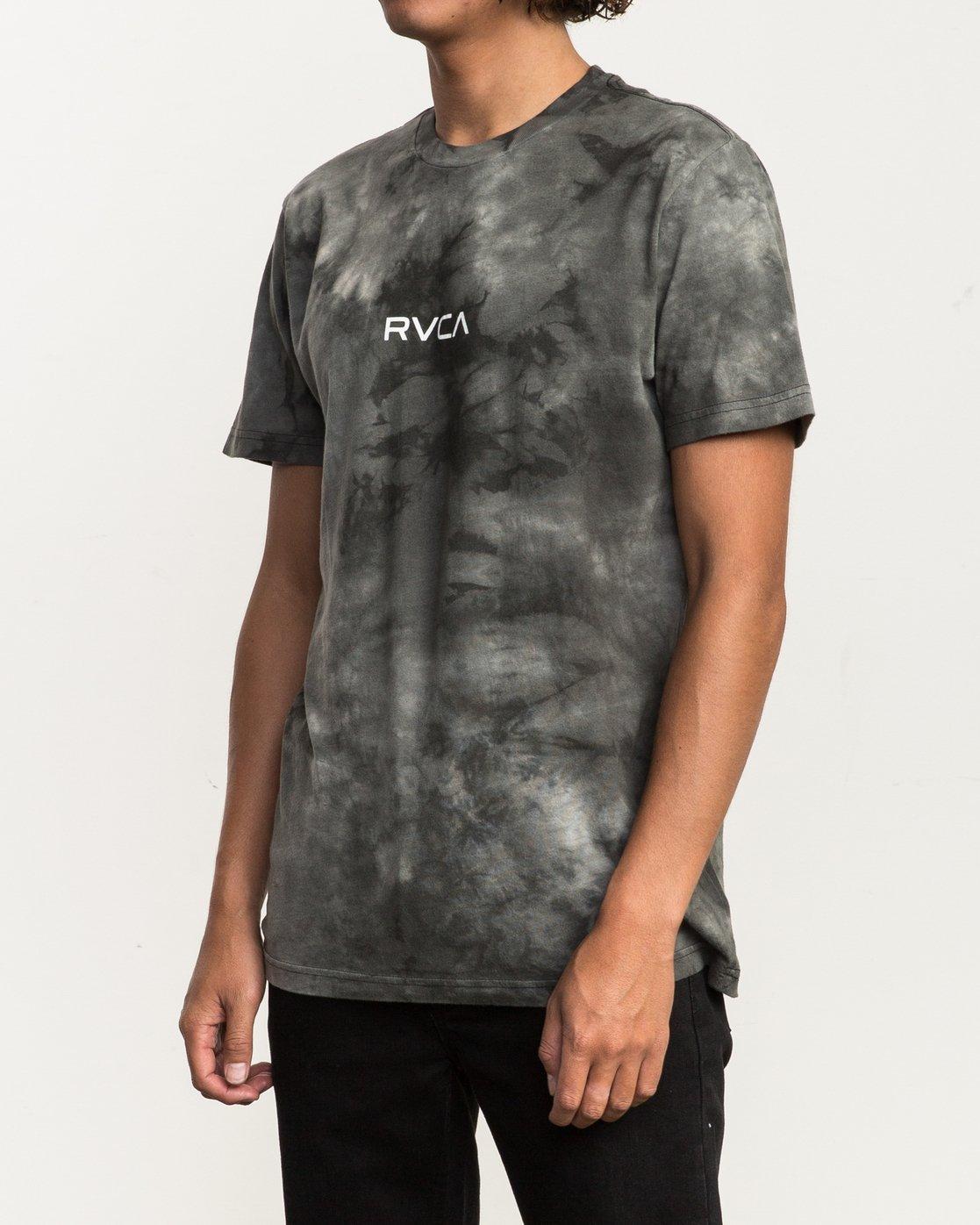 2 Center RVCA Washed T-Shirt Black M409QRCE RVCA