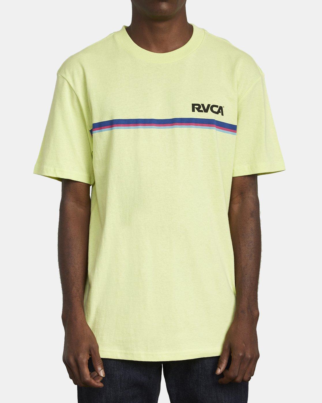 2 CANNONBALL T-SHIRT Yellow M4101RCA RVCA