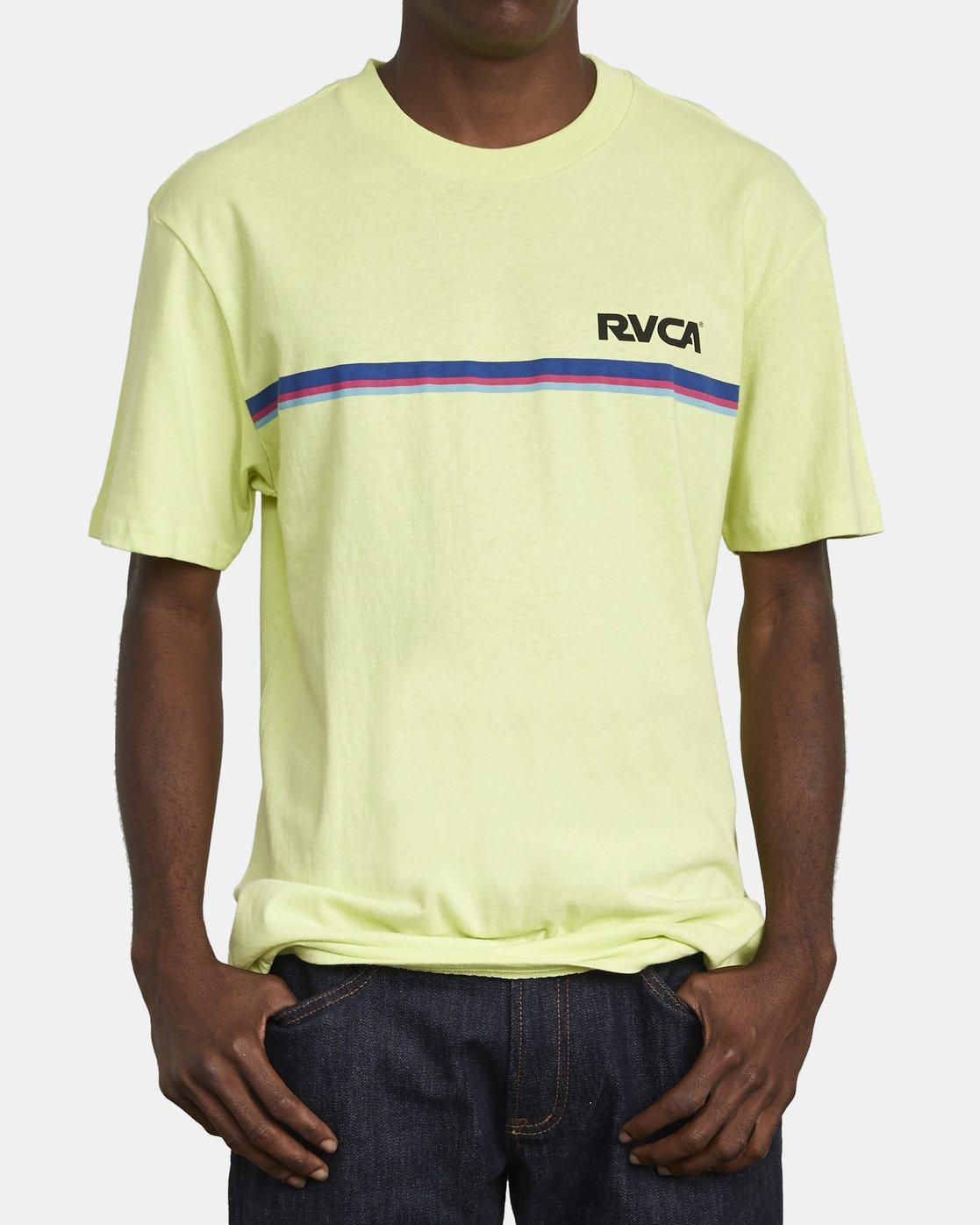 3 CANNONBALL T-SHIRT Yellow M4101RCA RVCA