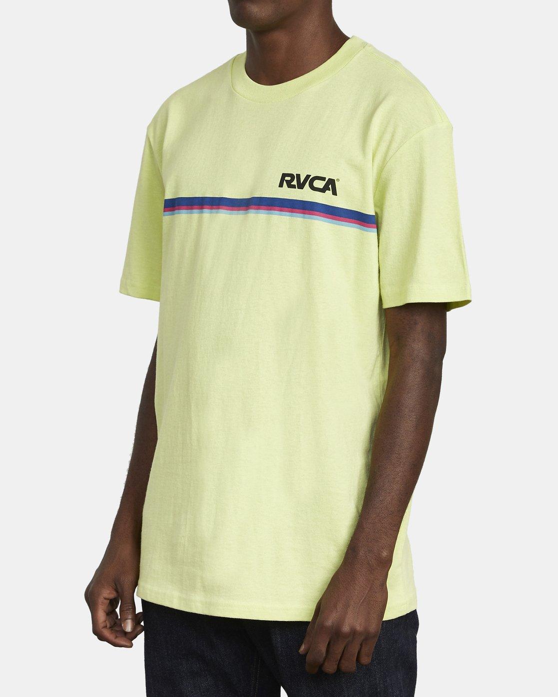 4 CANNONBALL T-SHIRT Yellow M4101RCA RVCA