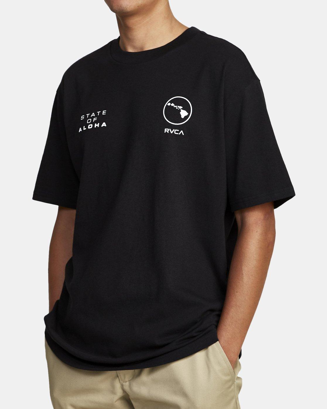 1 HOKULE'A SHORT SLEEVE T-SHIRT Black M4102RHO RVCA