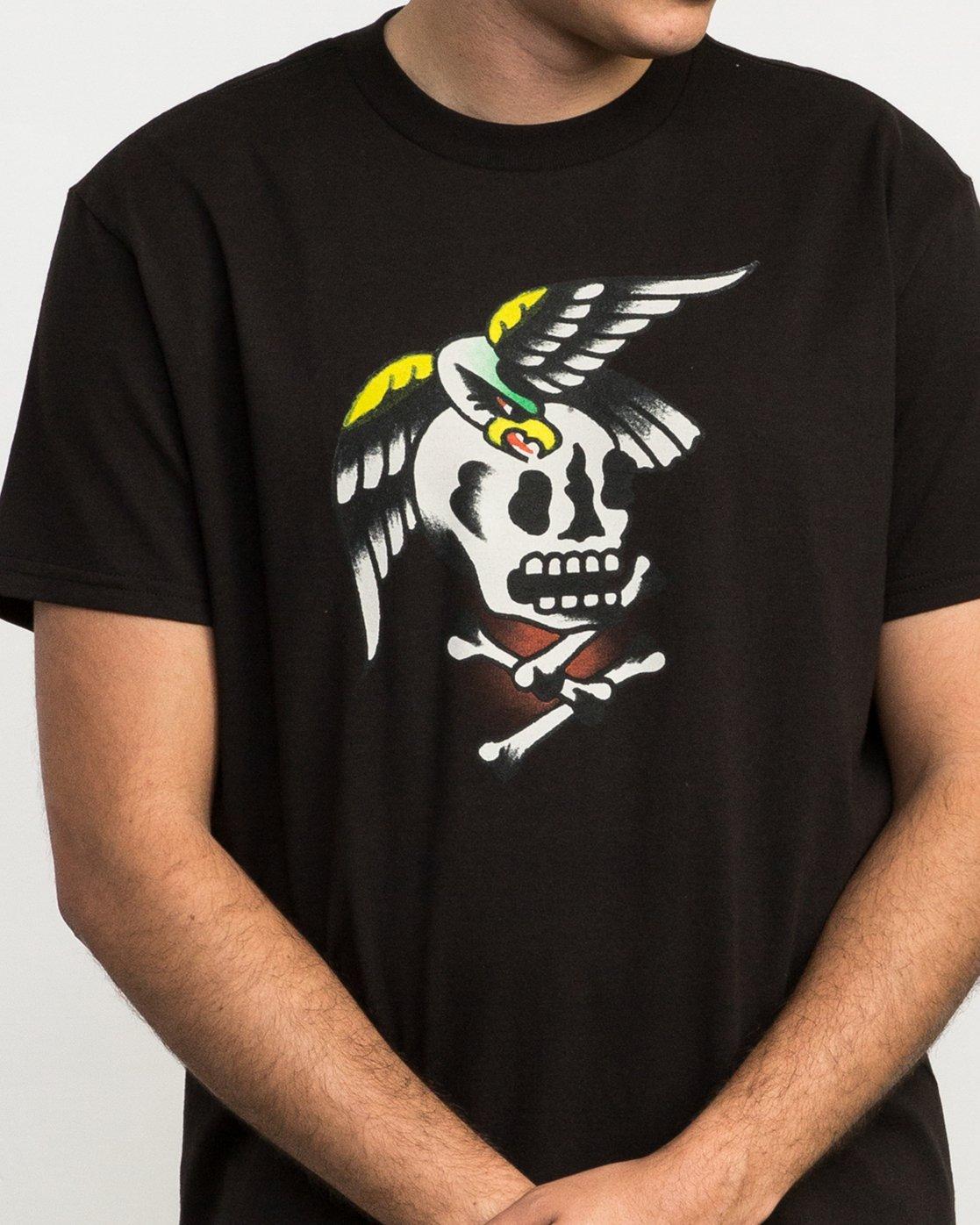 5 Bert Krak Eagle Skull T-Shirt  M410QREA RVCA