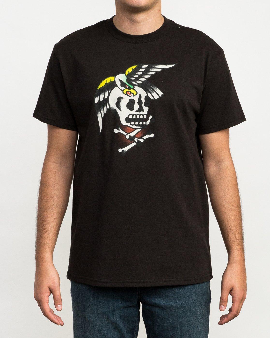 2 Bert Krak Eagle Skull T-Shirt  M410QREA RVCA