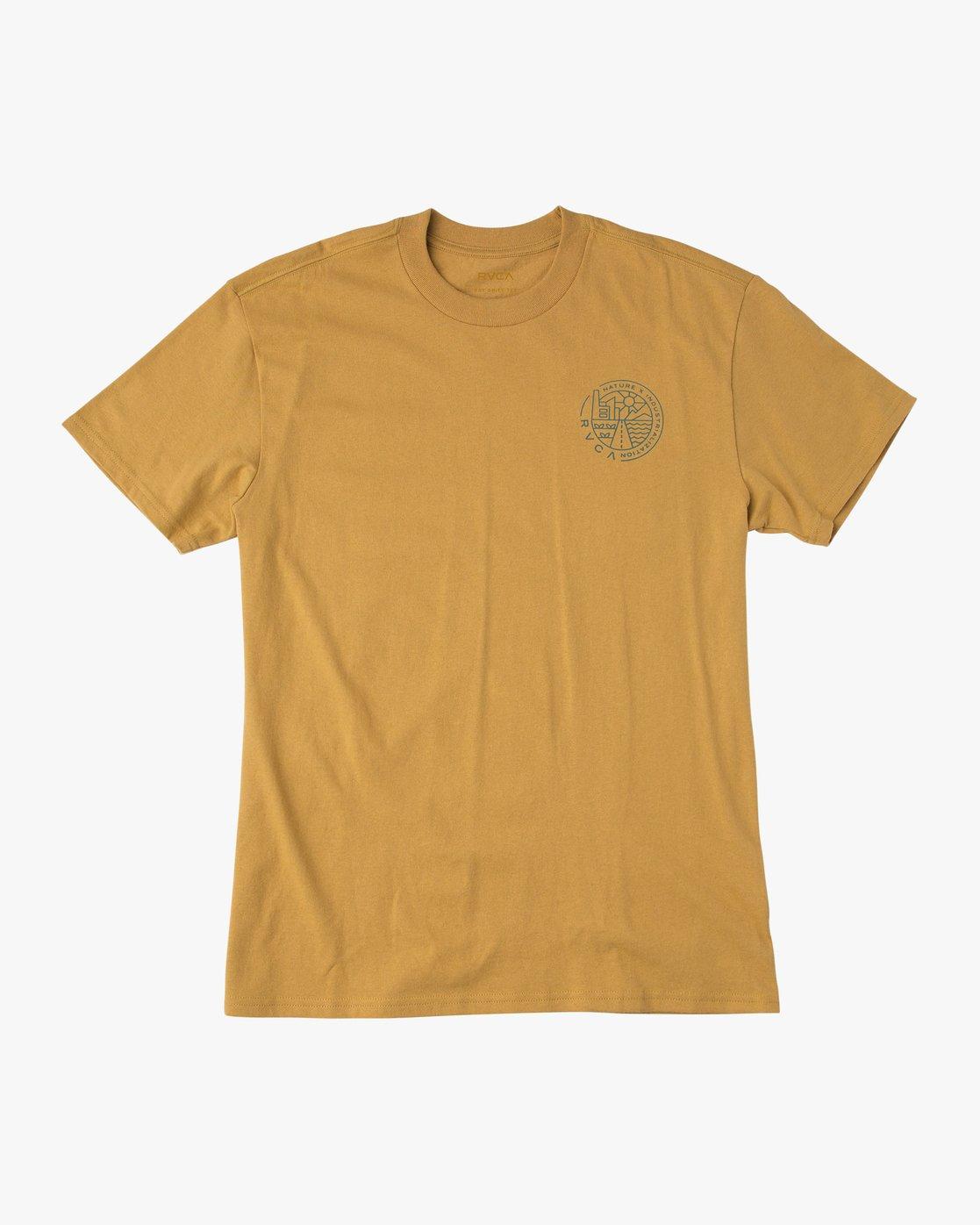1 Heartland T-Shirt Green M410QRHE RVCA