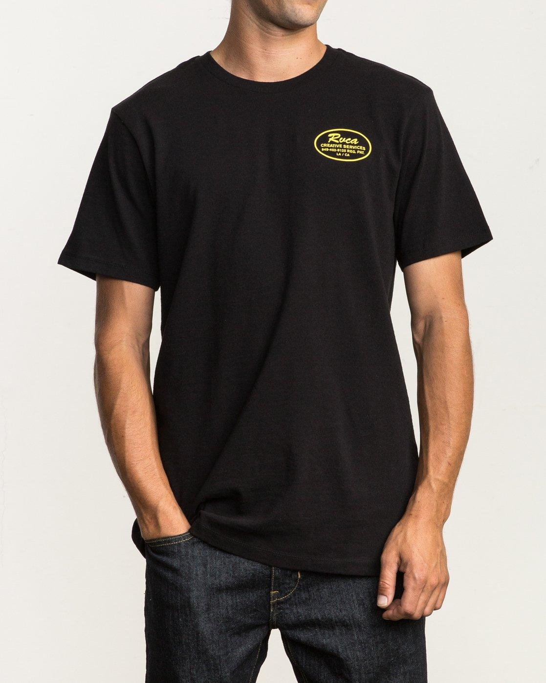 2 Creative Service T-Shirt Black M410SRCR RVCA