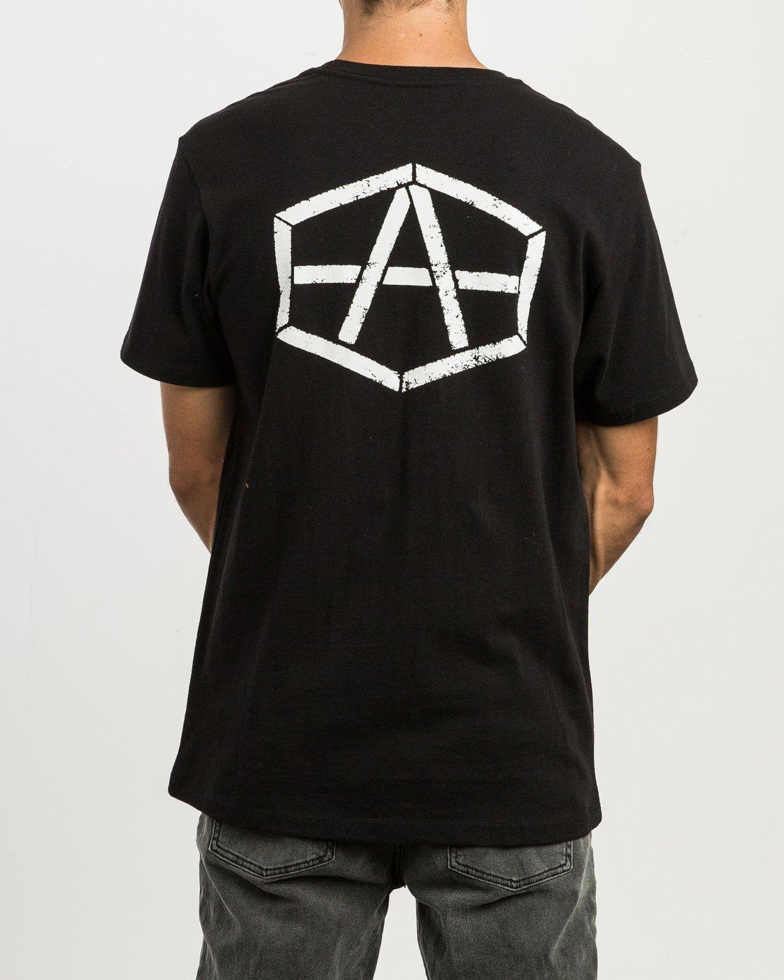 4 Andrew Reynolds Stencil T-Shirt  M410SRRE RVCA