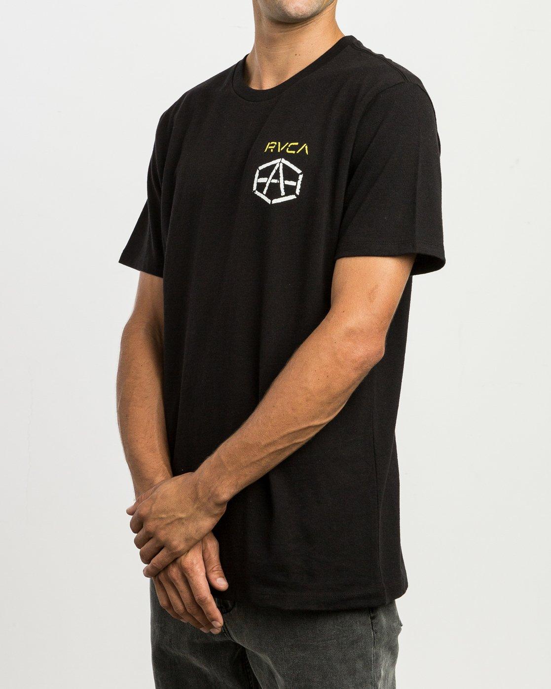 3 Andrew Reynolds Stencil T-Shirt  M410SRRE RVCA