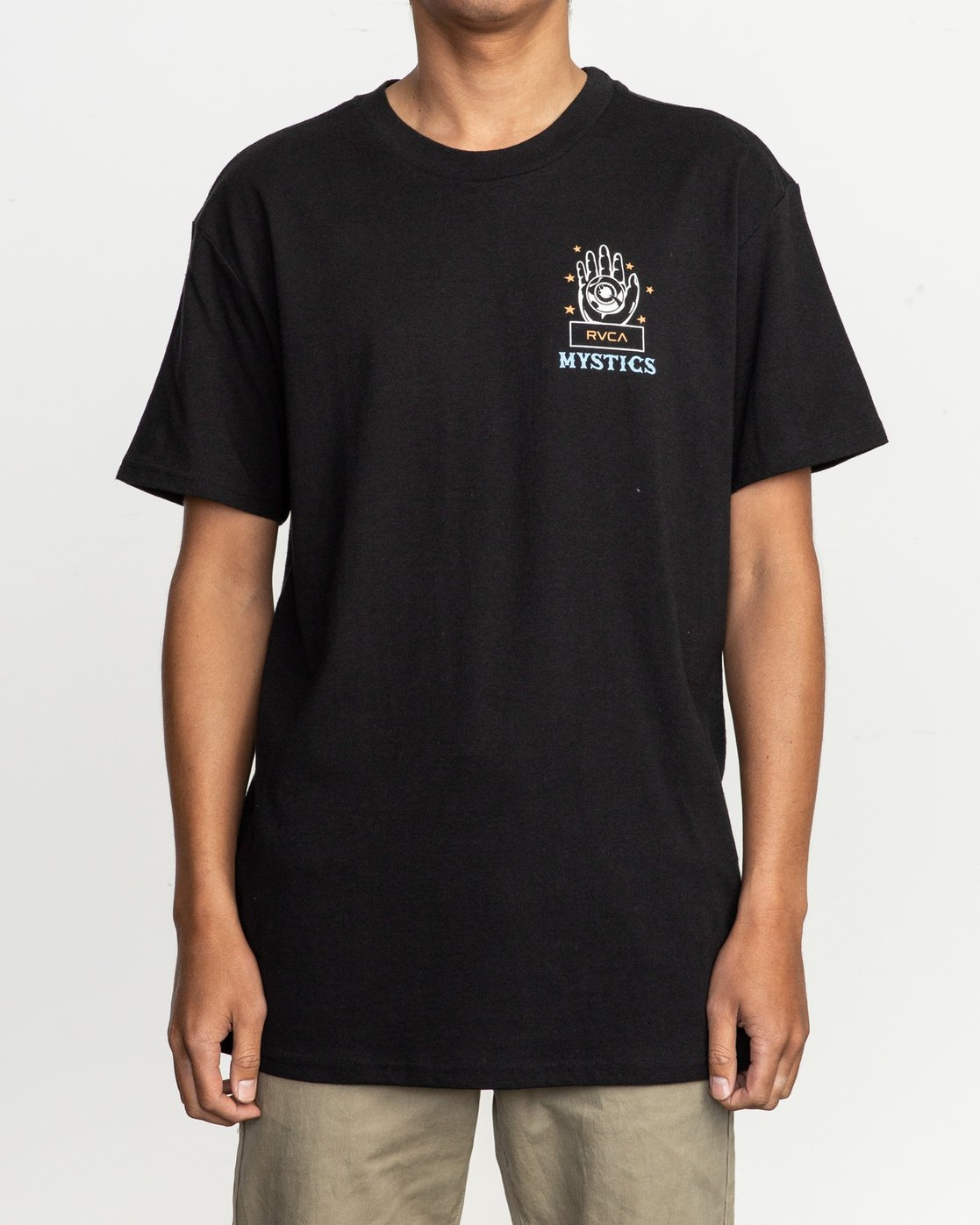 2 Dmote Psychic T-Shirt Black M410TRPS RVCA