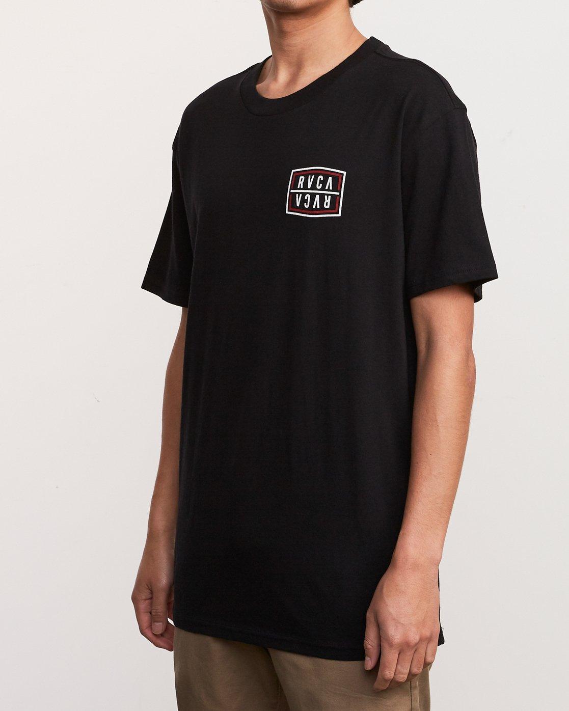 3 Flip Corpo T-Shirt Black M410URFI RVCA