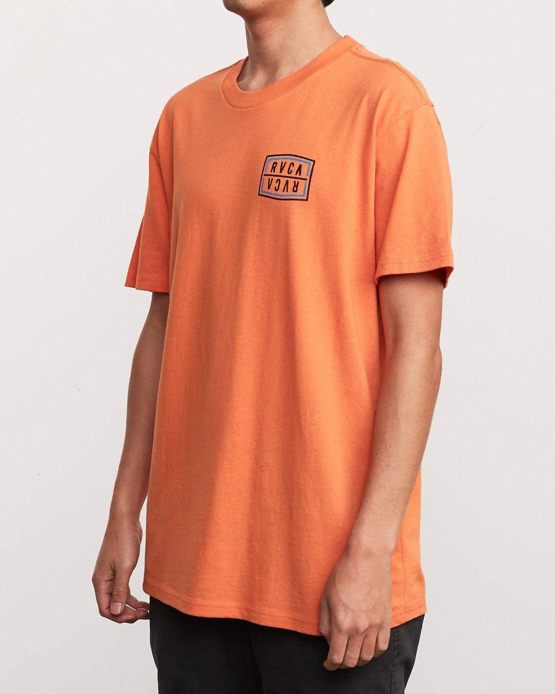 3 Flip Corpo T-Shirt Orange M410URFI RVCA