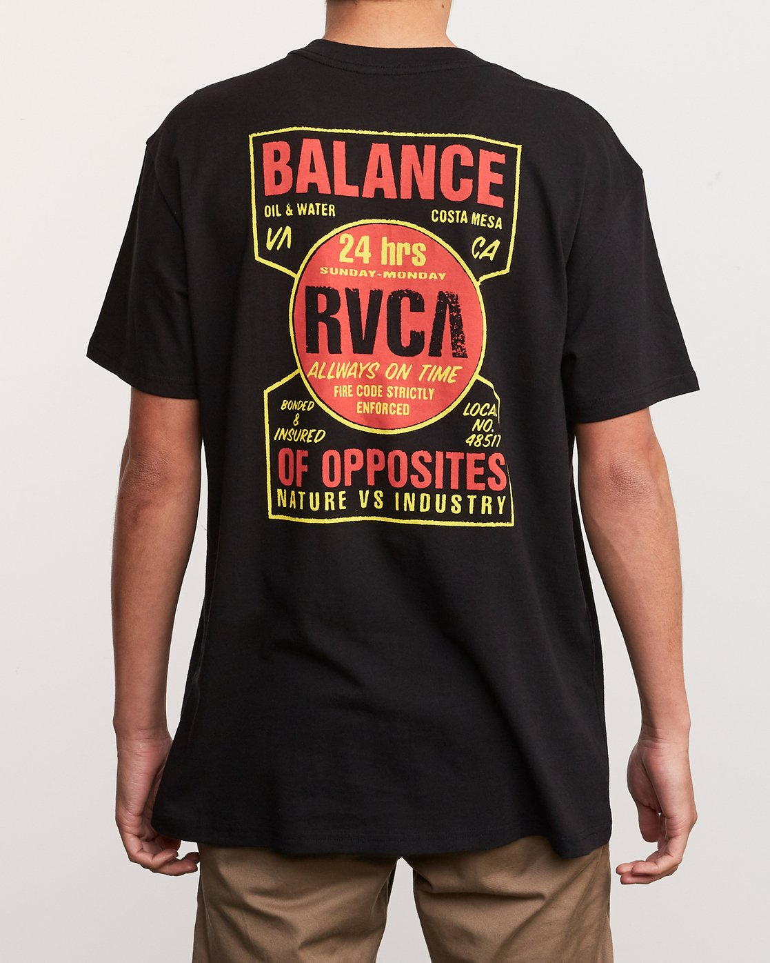 4 Insured T-Shirt Black M410URIN RVCA