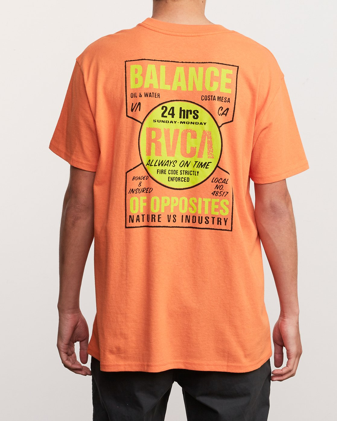 4 Insured T-Shirt Orange M410URIN RVCA