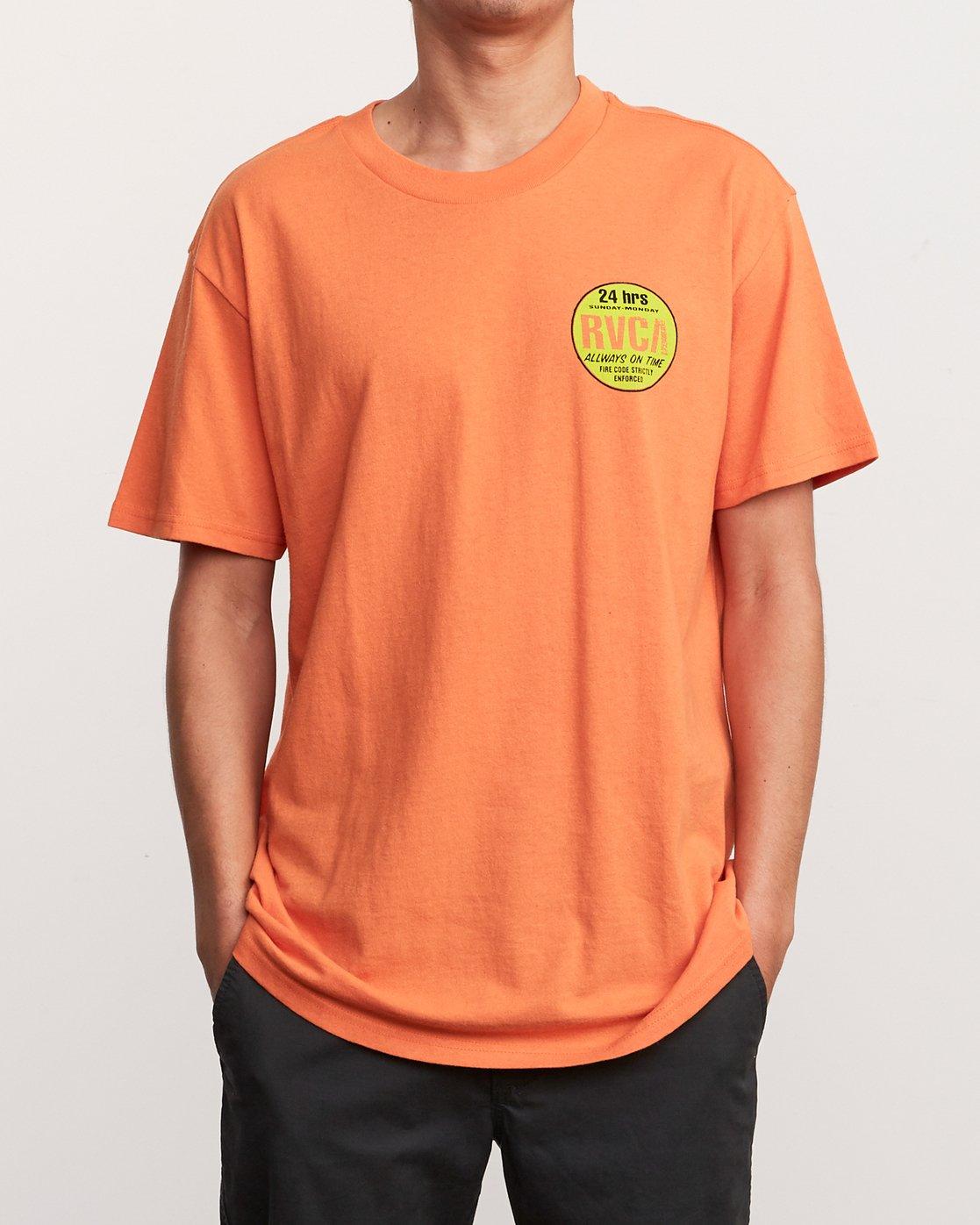 2 Insured T-Shirt Orange M410URIN RVCA
