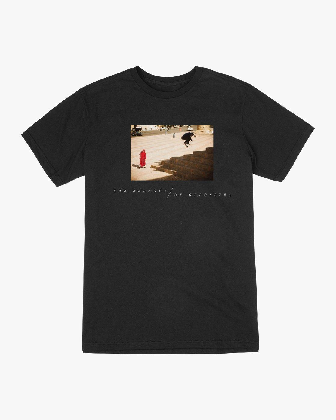 0 Balance Of Opposites Tokyo T-Shirt Black M410VRBO RVCA