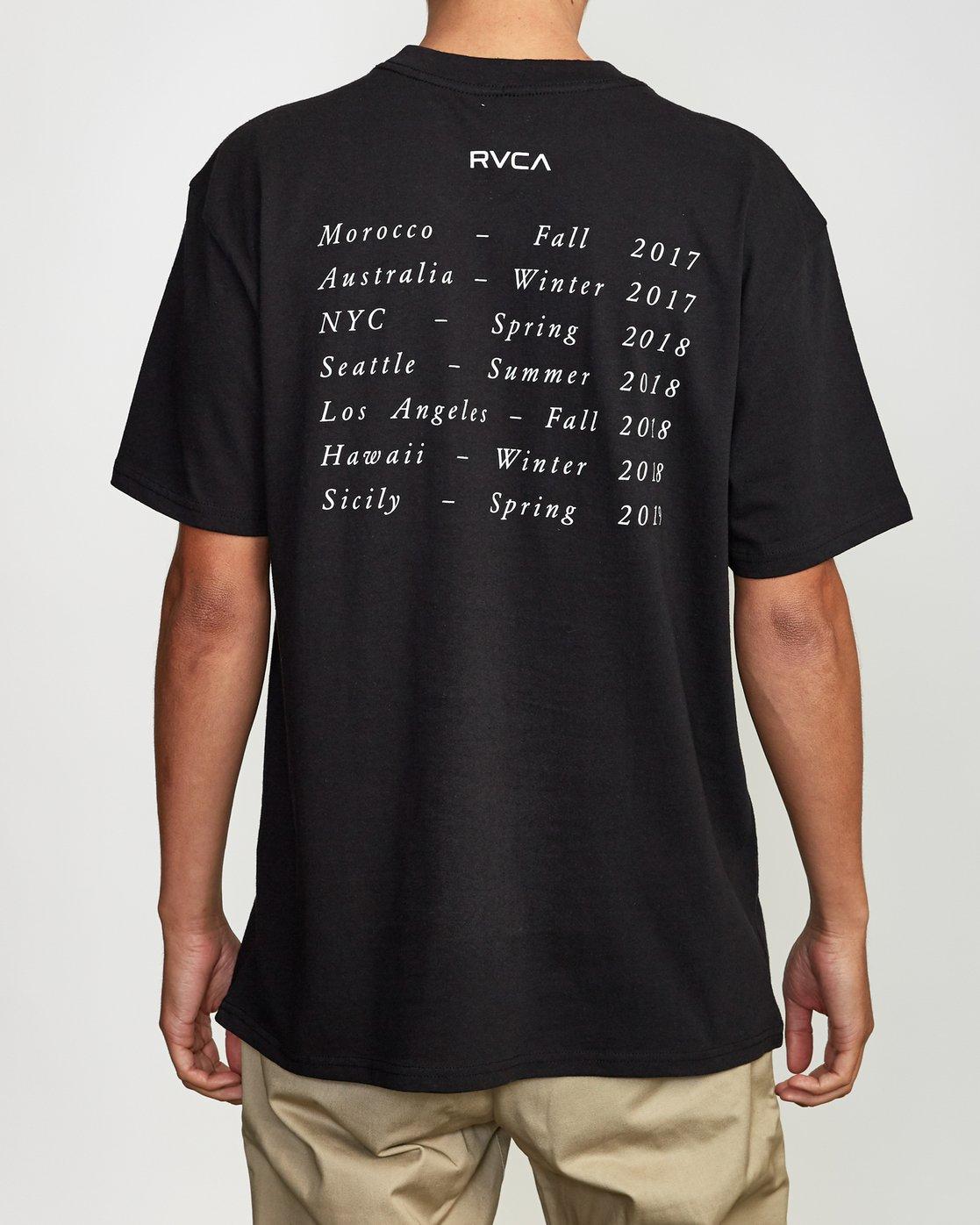 4 Balance Of Opposites Tokyo T-Shirt Black M410VRBO RVCA